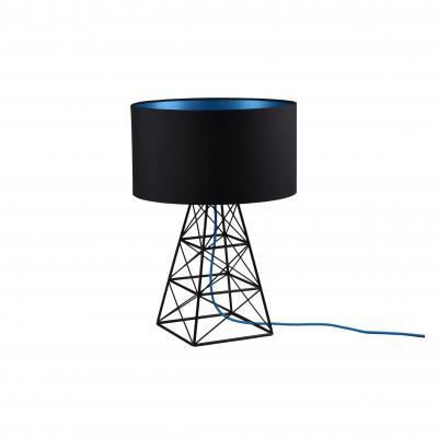 Tischlampenmast | Schwarzes + blaues Kabel