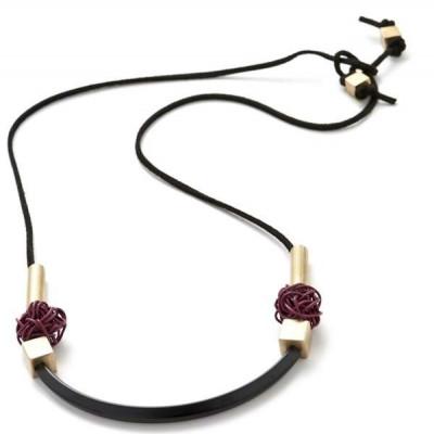 Dinka Necklace | Burgundy