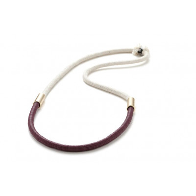 Anlo Long Necklace | Burgundy