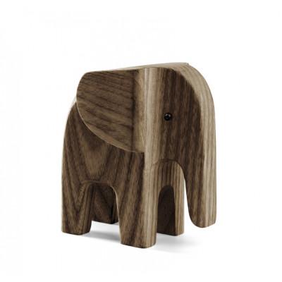 Elefant Baby   Dunkel Eschenholz