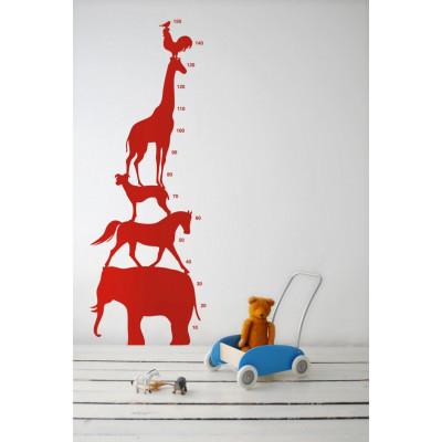 Wandaufkleber Animal Tower Rot
