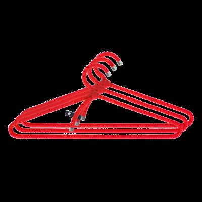 3er-Set Kleiderbügel Seil   Rot