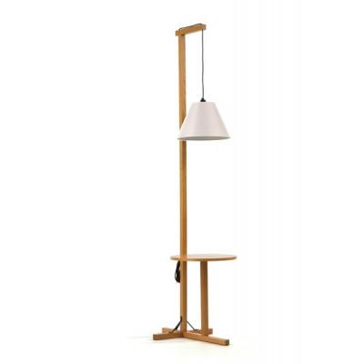 Stehlampe + Tisch White Shade | Weiße Eiche
