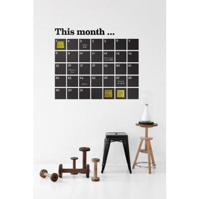 Wandtattoo-Kalender