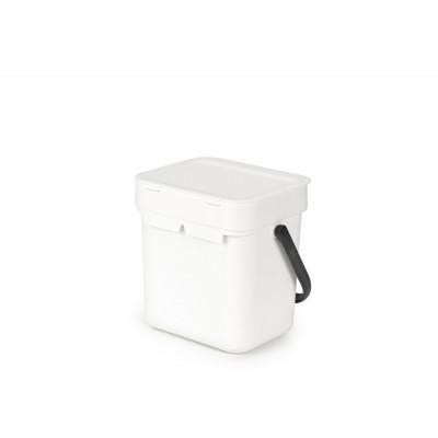 Mülleimer Sort & Go 3 L   Weiß