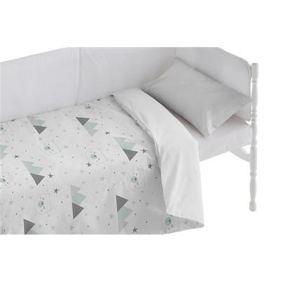 Bettbezug für Kinderbett Mountain I Weiß 100x120 + 50x30 cm