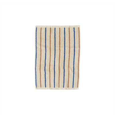 Handtuch Raita | Karamell + Optik Blau Mini