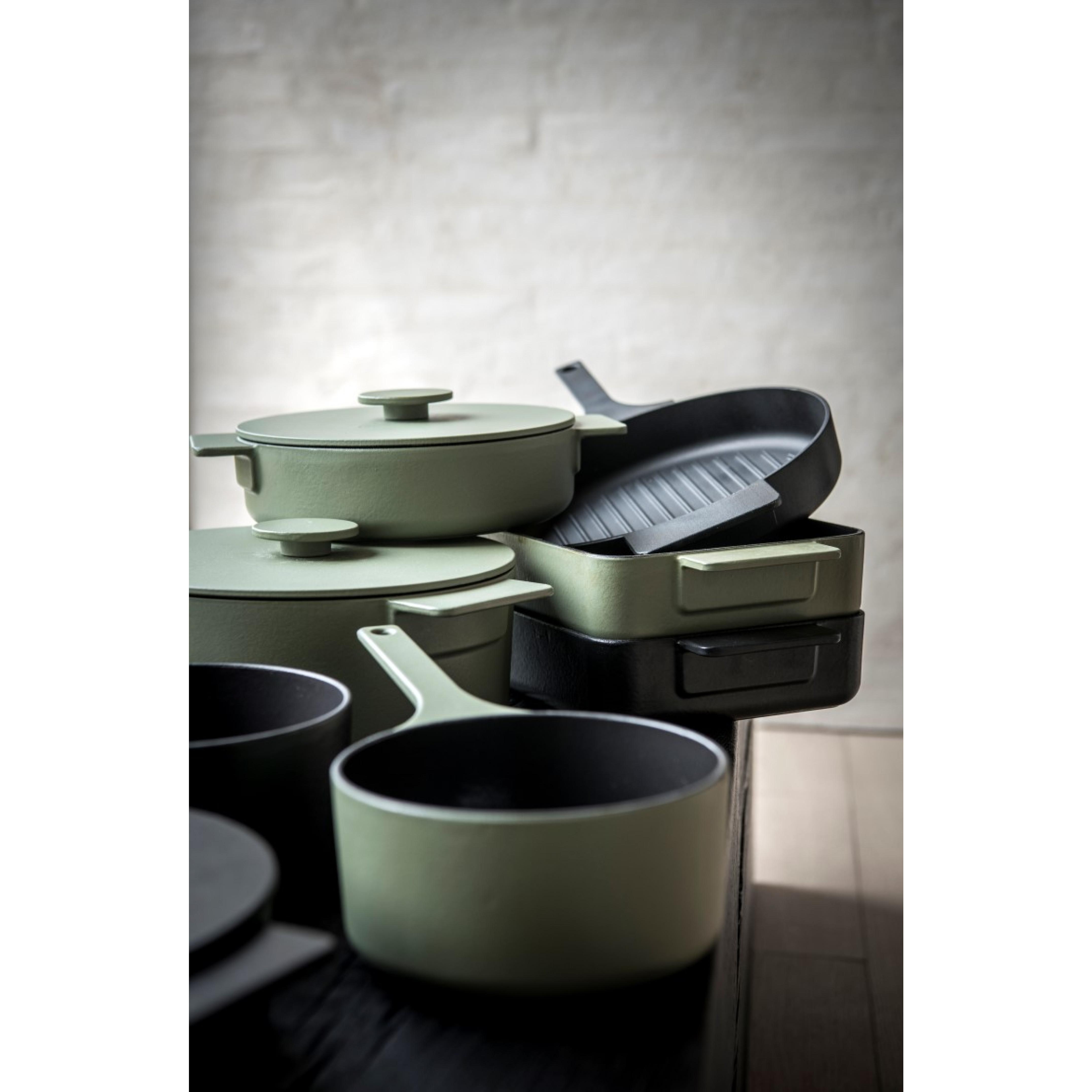 Kasserolle Oberflächenemaille   Grün-26 cm