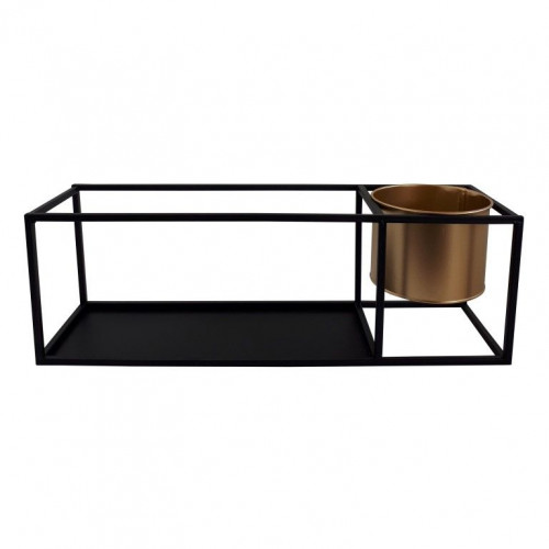 Wall Shelf Small   Metal Black