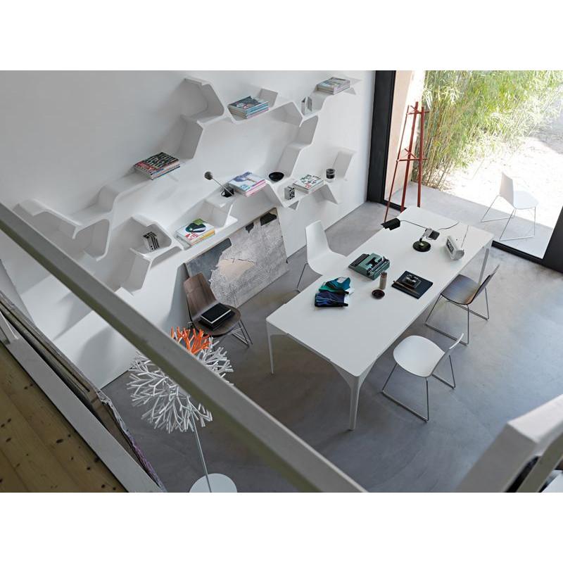 Canard-Tisch Nussbaum/Weiß