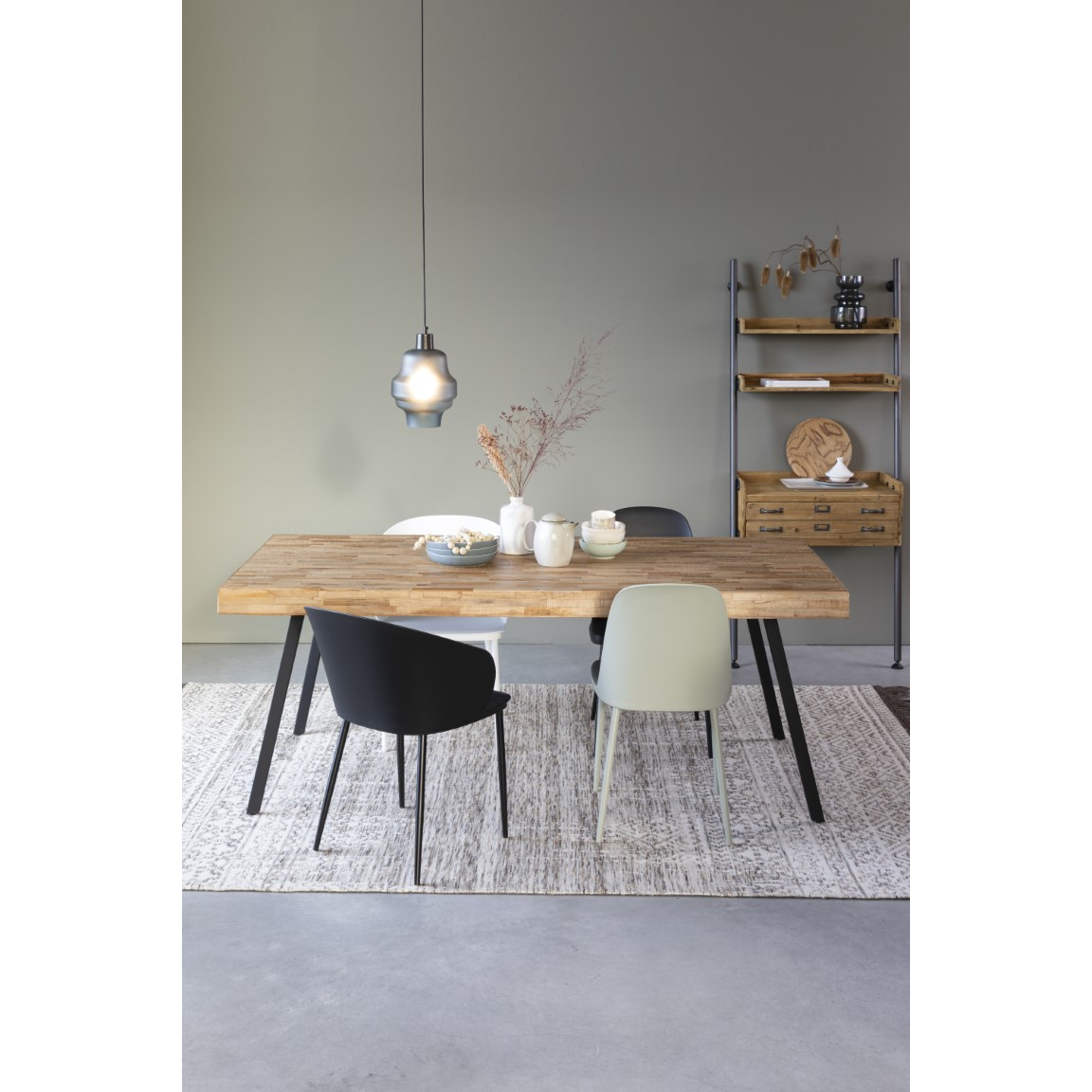 Tisch Suri 160 cm   Helles Holz