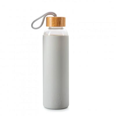 Wasserflasche Maneki Neko   Grau