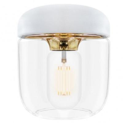 Lampenschirm Acorn | Weißes poliertes Messing