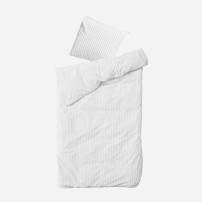 Einzelner Bettbezug mit Kopfkissenbezug 50 x 70 Dagny   Schnee & Kohle