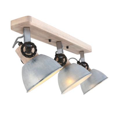 Spotlampe 3-L. Gearwood | Zink - Braun