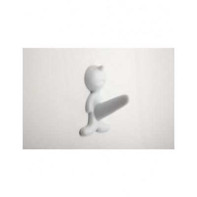 Mr. P Key Hanger   White