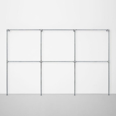 The Walk-In 3 Row Wardrobe System I Silver
