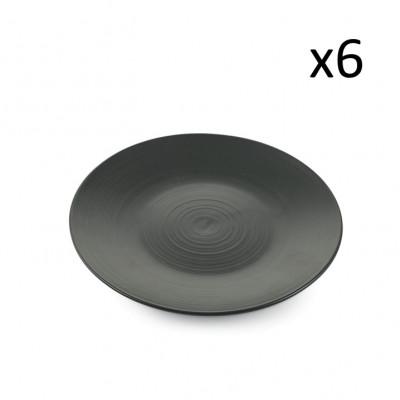 Fruchtplatte Grafite 6er-Set   Schwarz