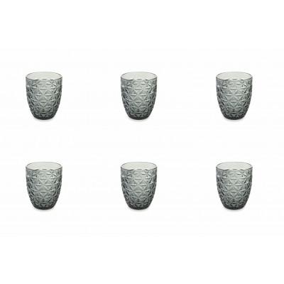 Wasserglas Gemma 6er-Set   Schwarz