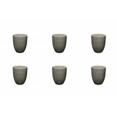 Wasserglas Spiga 6er-Set   Schwarz
