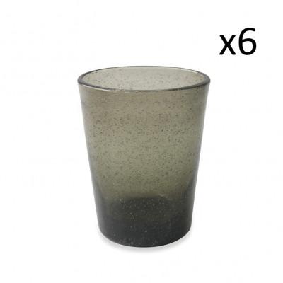 Wasserglas Cancun Satin 6er-Set   Rauchgrau