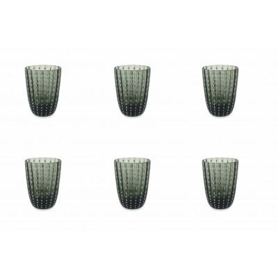 Wasserglas Kalahari 6er-Set   Rauchgrau