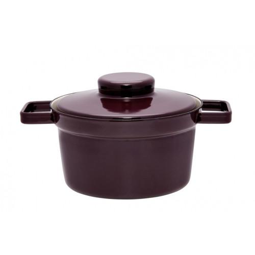 Aromapot Dark Aubergine, Pot with Lid -Medium