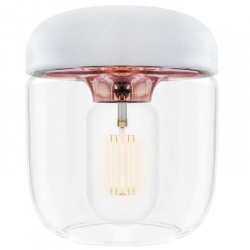 Lampenschirm Acorn | Weißes poliertes Kupfer