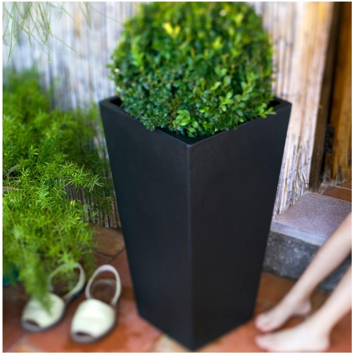 Plant Pot Square 30 | Black