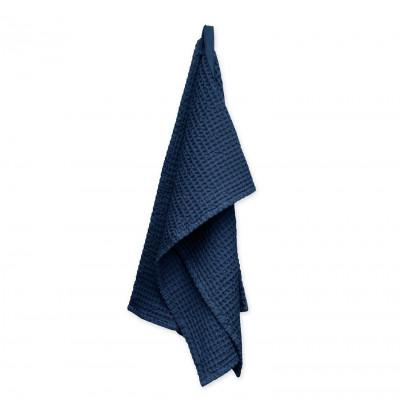 Big Waffle Medium Towel   Dark Blue