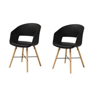 Stühle Louis 2er-Set | Schwarz
