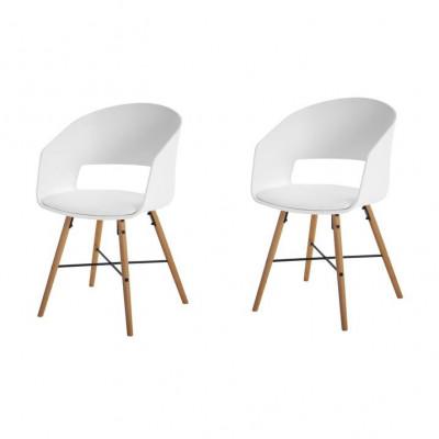 Stühle Louis 2er-Set | Weiß