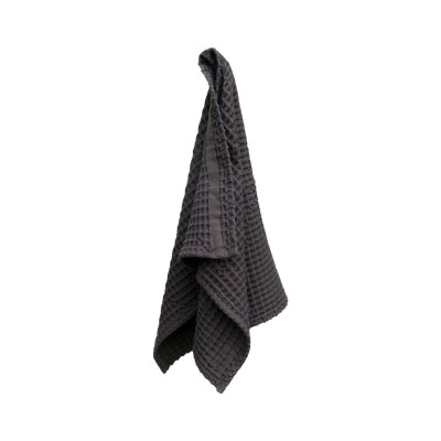 Big Waffle Hand Towel   Dark Grey