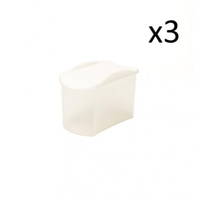 3er-Set Sprinkler Box Store & Pour 800 ml   Weiß