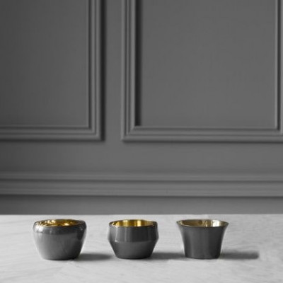 Kin Teelichthalter Set/3 | Mole's Grau