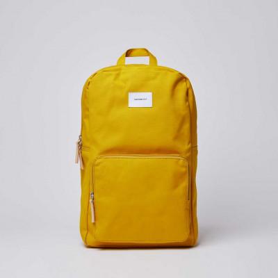 Rucksack KIM | Gelb mit Naturleder