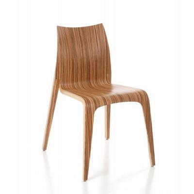 Flow Stuhl | Zebrano lackiert