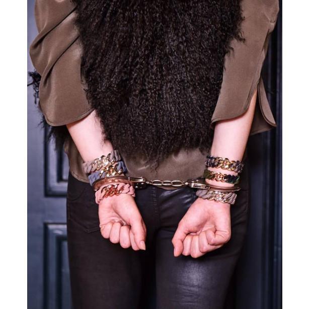 Classic Bracelet 20 mm | Light Olive & Antique Rose Gold