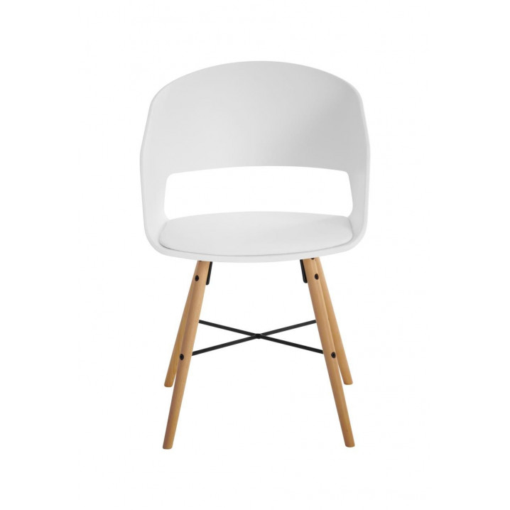 Set of 2 Chairs Louis | White