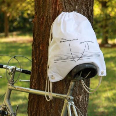 Gym Bag Black Palm on White