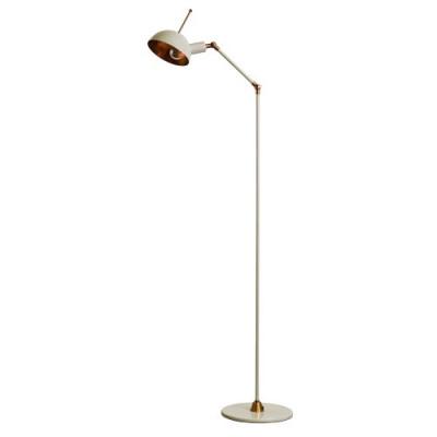 Kettle Stick Floor Lamp   White/Brass