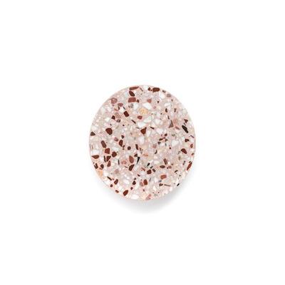 Wandleuchte Pin Terrazzo Small | Rot