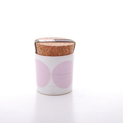 Rundes Glas   Rosa