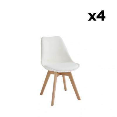 4-er Set Esszimmerstühle Carlotta | Weiß