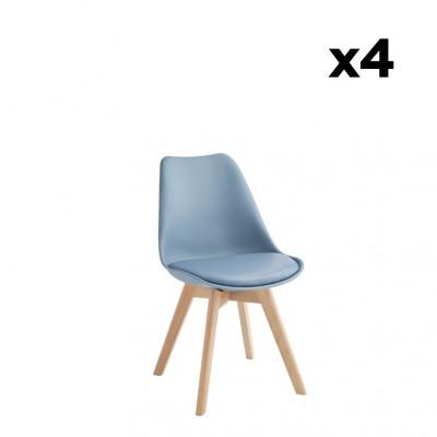 4-er Set Esszimmerstühle Carlotta | Blau