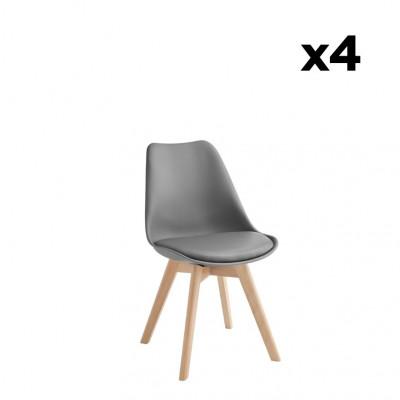 4-er Set Esszimmerstühle Carlotta | Dunkelgrau