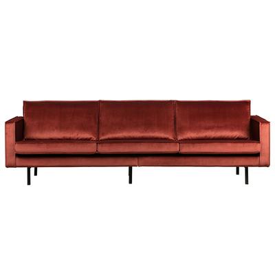 3 Seater Sofa Rodeo Velvet | Chestnut