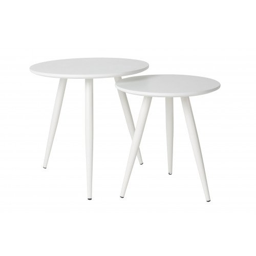 Set of 2 Side Tables Daven   White