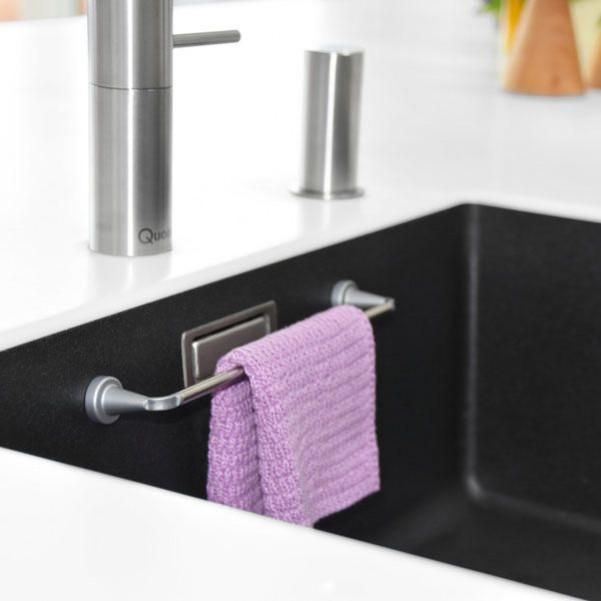 Magnetische Schiene für Tücher mit Gegenmagnet | Edelstahl