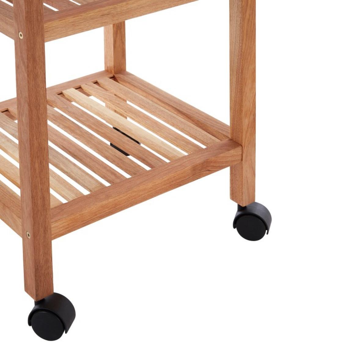 3 Tier Bathroom Trolley | Walnut Wood